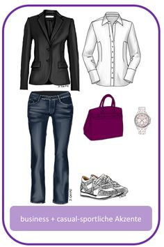 Stil-Mix-Outfit: Business-Outfit mit sportlichen, lässigen Akzenten; www.modefluesterin.de - #sportlich #Business #casual #outfit
