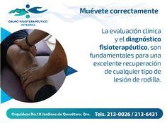 """¡Acude a Grupo Fisioterapéutico Integral en caso de #lesión! #MuéveteCorrectamente con #GrupoFI, """"Salud integral sólo en nuestras manos""""."""