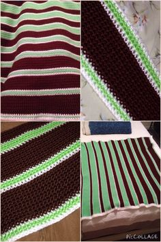 Crocheted baby blanket (custom colors) with fade design.