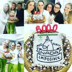 Celebrando en Farmacia La Plaza, Chiclana de la Frontera, Cadiz, para ellos no existe nada imposible!