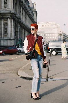 Marianne Theodorsen on the street in Paris