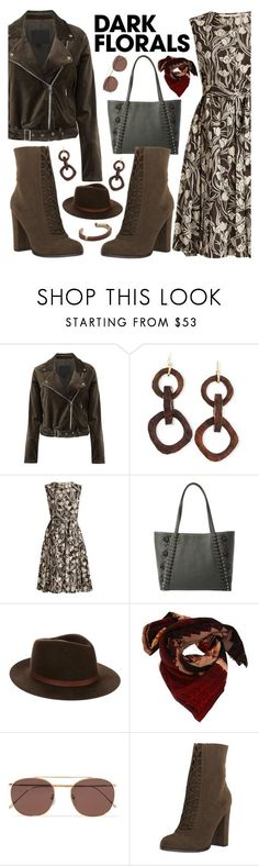 """Dark Floral"" by fsjamazon ❤ liked on Polyvore featuring Paige Denim, NEST Jewelry, 'S MaxMara, Kate Spade, rag & bone, Faliero Sarti and Illesteva"