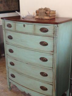 Dresser DIY love the idea of leaving the top part original