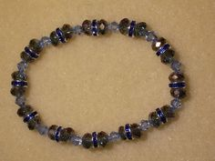 blue and gray crystal stretch-$10