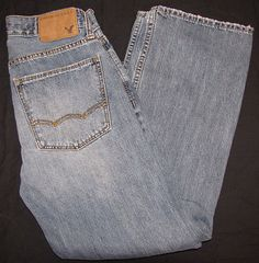 AMERICAN EAGLE mens BOOT CUT jeans size 28x26 $12.99