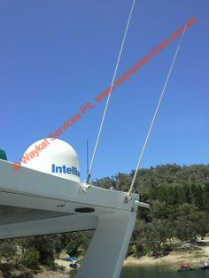Shown on the left hand side is the The Telstra NextG 2.2m antenna connected to the 100% legal Telstra NextG Cel-Fi repeater/booster.  see our other sites Web:- www.waykatservice... Twitter:- www.twitter.com/... Facebook:- www.facebook.com/... Boat, Facebook, Twitter, House, Dinghy, Home, Boats, Homes, Houses