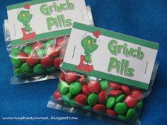 Nap Time Journal: Neighbor Gifts 2011.....Reindeer noses and Grinch pills