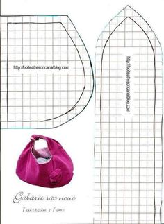 Gabarit_sac_nou__tutorial step by step - Bildanleitung Sewing Tutorials, Sewing Crafts, Sewing Projects, Sewing Patterns, Patchwork Bags, Quilted Bag, Bag Quilt, Diy Sac, Diy Handbag