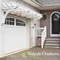 Pergola Over Garage Door Info: 7570949408 Patio Pergola, Garage Pergola, Pergola Shade, Backyard, Gazebo, Pergola Ideas, Wisteria Pergola, Arbor Ideas, White Pergola