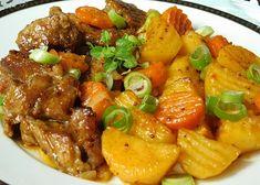 Pork Recipes, Food And Drink, Menu, Dinner, Ethnic Recipes, Sweet, Kitchen, Menu Board Design, Cucina