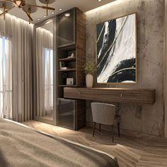 Hotel Room Design, Bedroom Bed Design, Modern Bedroom Design, Bedroom Decor, Pastel Home Decor, Dressing Table Design, Shabby Home, Suites, Minimalist Bedroom