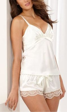 83208deffd0 Flora by Flora Nikrooz Satin Diva Camisole and Shorts Set Lingerie Images