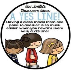 Perfect for back to school! Transitions with a Yes Line Plus a #FREE classroom poster. #BacktoSchool