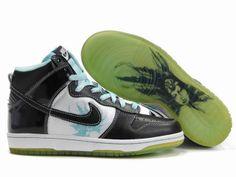 super popular b0b1a b8154 Chaussures Nike Dunk High Noir Blanc Bleu -  Nike Chaussure Pas Cher,Nike  Blazer and Timerland