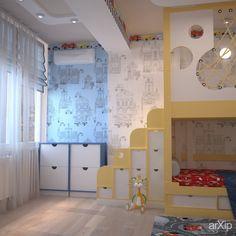 Интересные идеи для детской комнаты: интерьер, квартира, дом, современный, модернизм, детская комната, 20 - 30 м2 #interiordesign #apartment #house #modern #nursery #20_30m2 arXip.com