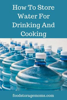 You may remember me talking about how to store water for drinking and cooking. This is a friendly reminder to stock up on water for drinking. Survival Food Kits, Survival Prepping, Emergency Preparedness, Survival Skills, Survival Hacks, Survival Shelter, Survival Quotes, Homestead Survival, Survival Videos