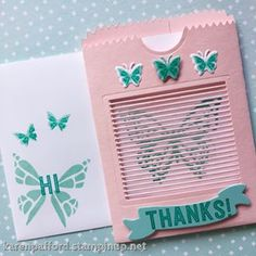 You Move Me! A sweet card we made at my New Catalog Team Party. There is a really cool optical optical illusion going on in this card. #stampinup #magic #youmoveme #butterfly #thanks #teamparty #newcatalog kmpstampstudio