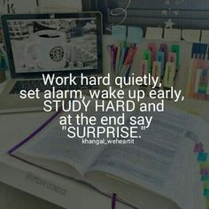 motivation, school, and study image Exam Motivation, Study Motivation Quotes, Motivation Inspiration, College Motivation, Positive Quotes, Motivational Quotes, Inspirational Quotes, Calm Quotes, Study Hard Quotes