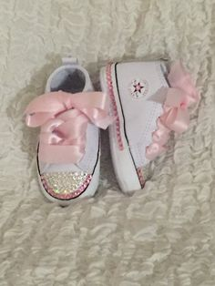 Infant Converse First Star White Leather by TaylorsPenny on Etsy 1139817df
