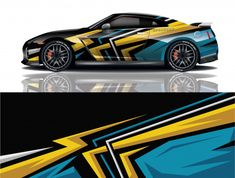 3d Racing, Racing Car Design, Truck Stickers, Truck Decals, Racing Stripes, Rally Car, Car Wrap, Super Cars, Vectors
