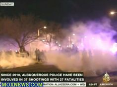 """POS Albuquerque Cops Use Tear Gas On """"Peaceful"""" Protesters Rallying Agai..."""