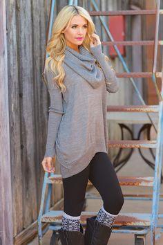 """Where Sweet Time Takes Us Sweater - Grey from Closet Candy Boutique Use code """"repjennifer"""" for 10% off and FREE shipping!"""