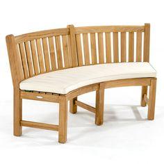 Buckingham Fire Pit Teak Bench Set | Westminster Teak Teak Table, Dining Bench, Westminster Teak, Backyard Putting Green, Bench Cushions, Curved Bench, Planter Bench, Teak Outdoor Furniture