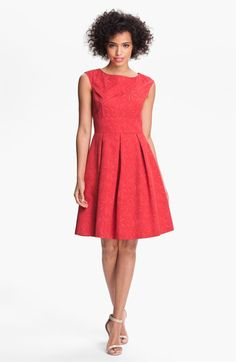 Adrianna Papell Floral Jacquard Fit & Flare Dress | Nordstrom