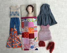 Cloth doll Handmade doll doll set play set soft doll por Dollisimo