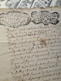 French handwritten document - 1700s FleaingFrance Brocante Society
