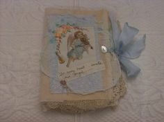 Fabric Rag Journal Angels by StitchesbyJanO on Etsy, $110.00