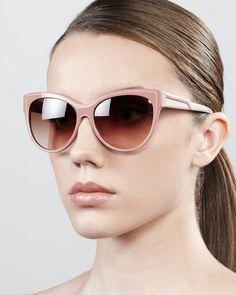 stella mccartney sunglasses- pink soft opaque cateye