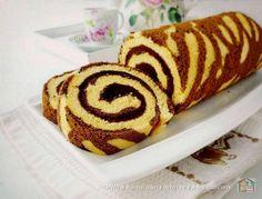 Citra's Home Diary: Zebra Swiss Roll Cake (cooked dough method) / Bolu gulung… Turkish Recipes, Ethnic Recipes, Yule Log Cake, Jungle Cake, Rolls Recipe, Roll Cakes, Cake Rolls, How To Make Cake, Cake Recipes