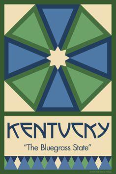 Olde America Antiques | Quilt Blocks | National Parks | Bozeman Montana : 50 STATE QUILT BLOCK SERIES - KENTUCKY