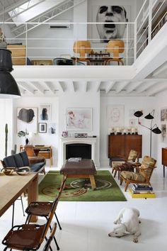 Delfin Postigo House in Madrid | http://www.yellowtrace.com.au/luscious-lofts/