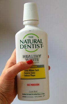 Отчет про отбеливающий ополаскиватель, который надо использовать ДО чистки зубов.