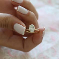 This Minimalist Engagement Ring set gold Simple Oval Cut Diamond engagement ring Wedding Solitaire Delicate Women Bridal Promise Anniversary is just one of the custom, handmade pieces you'll find in our engagement rings shops. Beautiful Diamond Rings, Platinum Diamond Rings, Oval Diamond, Diamond Solitaire Rings, Uncut Diamond, Opal Rings, Diamond Heart, Silver Rings, Ring Set