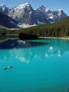 Turquoise, Moraine Lake, Banff, Alberta, Canada photo by Redeo. Banff is a beautiful place. Parc National De Banff, Banff National Park Canada, Places To Travel, Places To See, Travel Destinations, Lago Moraine, Lac Louise, Places Around The World, Around The Worlds