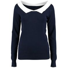 Boohoo Niamh Shirt Collar Jumper | Boohoo ($11) ❤ liked on Polyvore featuring tops, sweaters, chunky knit sweater, sequin sweater, blue collar shirt, blue shirt and nordic sweater
