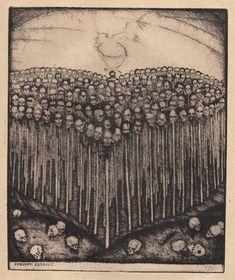 The Hearts of Kings  Etchings by Stefan Eggeler for Die Herzen der Konige (1922) by Hanns Heinz Ewers