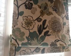 Beautiful Custom Roman Shade! You provide the fabric of your choice. Blackout…