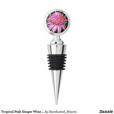 Tropical Pink Ginger Wine Stopper