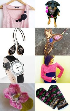 Pink and black by Kate Brooks on Etsy--Pinned with TreasuryPin.com