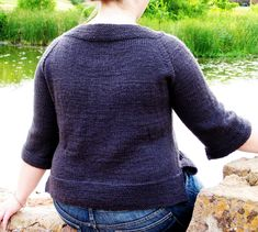 I'm going to be very bold and try to convert this Classic Boat-Neck Seamless Top down to a baby size pattern.  Wish me luck!