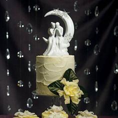 Moon and Stars Wedding Cake Top
