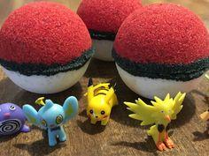 Pokeball Bath Bomb Pokemon Bath Bomb by MostThingsInbetween