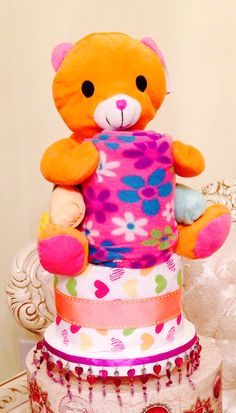 I Heart You Diaper cake