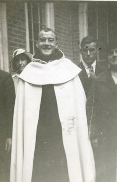 """Père Jacques, subject of the movie, """"Au revoir les enfants."""" Discalced Carmelite priest and headmaster at boys' school during Nazi occupation of France. Hid Jewish students; discovered, arrested, and sent to concentration camp. Died in 1945, age 45, from tuberculosis--several weeks after being freed by Allies."""