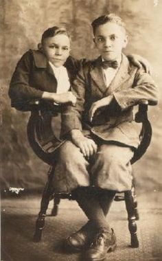 Johnny Eck (1911-1991) was born with sacral agenesis and had no legs. He had a twin brother Robert, seen here.  He walked on his hands and had such a strong upper body he could do a one-armed handstand.  The brothers joined the sideshow at age 12.  They started in a magician's act where Robert was 'sawed in half' and Johnny jumped up and ran about, which was a great hit even though it left some running for the exit.  The brothers never married and retired together in a home in Baltimore.