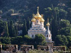 Church of Mary Magdalene, near the Garden of Gethsemane in Jerusalem, Israel, built in 1886.